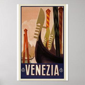 Retro Vintage Venezia Reise-klassisches altes Poster