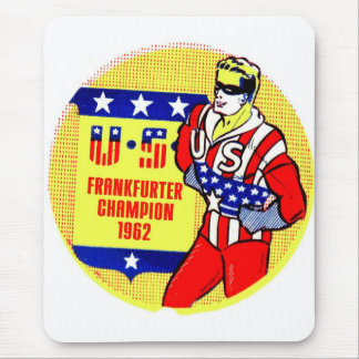 Retro Vintager Kitsch 1962 US-Frankfurter-Champion Mousepad
