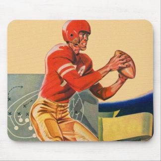 "Retro Vintager Kitsch-Fußball 'Fußball Jones "" Mousepad"