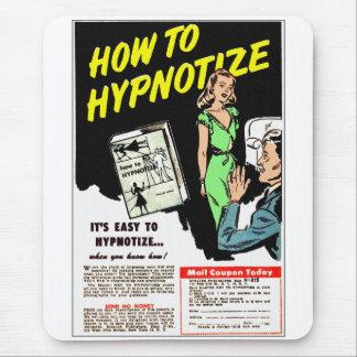 Retro Vintager Kitsch wie Hypnotize Comic-Anzeige Mousepad