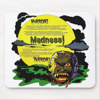 Retro Vintager Monster-Terror Halloweens, Mousepads