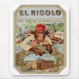 Retro Vintager Zigarren-EL Ricolo des Kitsch-30s Mauspad