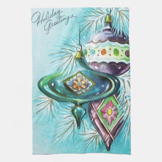 Retro Vintages Weihnachtsbirnen-Küchentuch Handtuch