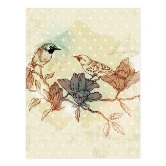 Retro Vögel Postkarten