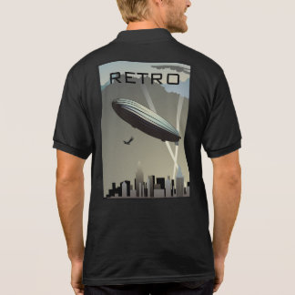 Retro Zeppelinskyline-Polo-Shirt Polo Shirt