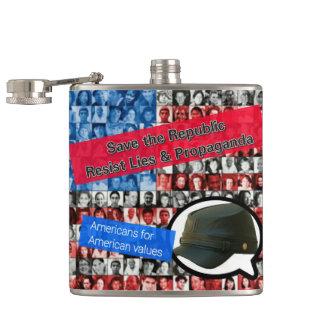 Retten Sie Amerika widerstehen Flasche Flachmann