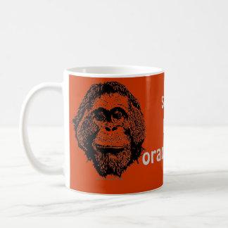 Retten Sie den Orang-Utans offizielles Logo Tasse