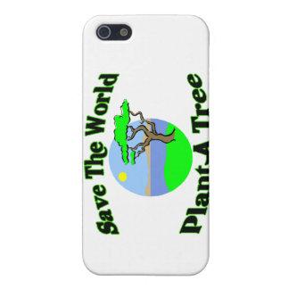 Retten Sie der WeltPflanze einen Baum iPhone 5 Schutzhülle