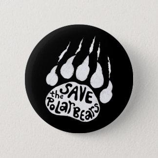 Retten Sie die polaren Bären Runder Button 5,7 Cm
