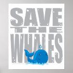 Retten Sie die Wale Plakate