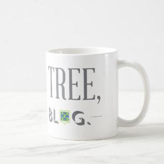 Retten Sie einen Baum, schreiben Sie eine Tasse