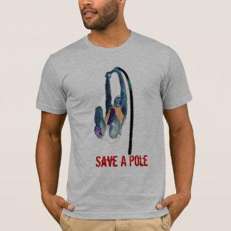 Retten Sie einen Pfosten, reiten Sie einen Vaulter T-Shirt