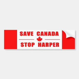 Retten Sie Kanada - stoppen Sie Autoaufkleber