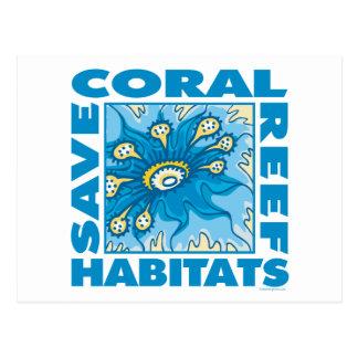 Retten Sie unsere Korallenriffe Postkarte