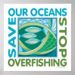 Retten Sie unsere Ozeane Poster