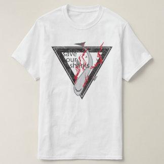retten Sie unseren Haifischen PAS Blumendreieck T-Shirt