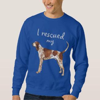 Rettungs-amerikanisches EnglischCoonhound Sweatshirt