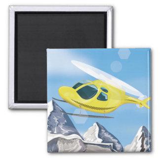 Rettungs-Hubschrauber Quadratischer Magnet