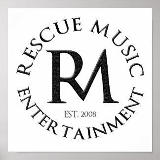 Rettungs-Musik-Unterhaltungs-Plakat Poster