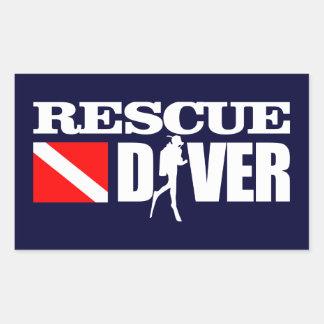 Rettungs-Taucher 2 Rechteckiger Aufkleber