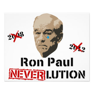 Revolution Neverlution Ron Pauls 2012 11,4 X 14,2 Cm Flyer