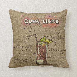 Rezept-Kissen Kubas Libre/Caipirinha Kissen