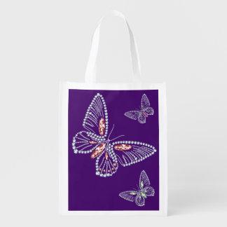 Rhinestone-Schmetterlings-Taschen-Tasche Wiederverwendbare Einkaufstasche