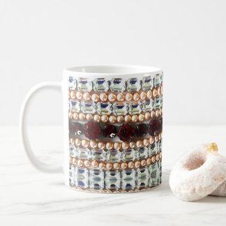 Rhinestones und Perlen Tasse
