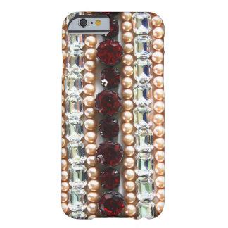 Rhinestones und Perlen - Vintager Schmuck Barely There iPhone 6 Hülle