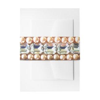 Rhinestones und Perlen - Vintager Schmuck Einladungsbanderole