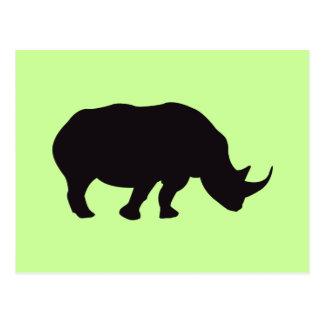 Rhino-Vintager hölzerner Stich Postkarte