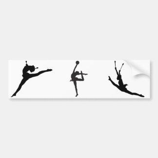Rhythmische Gymnastik-Autoaufkleber Autoaufkleber