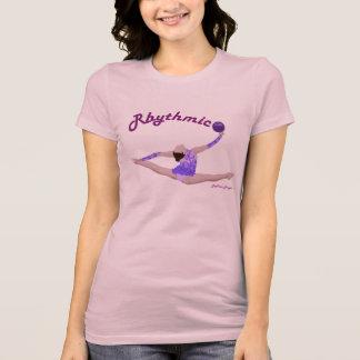 Rhythmische Gymnastik-Ball-aufgeteiltes Sprungs-T- T-Shirts