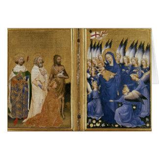 Richard II dargestellt der Jungfrau und dem Kind Grußkarte