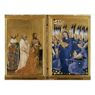 Richard II dargestellt der Jungfrau und dem Kind Postkarte