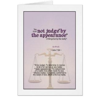 Richter durch die Wirklichkeit des Gottes - Karte