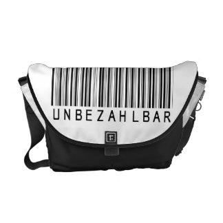 """Rickshaw-Tasche """"Barcode black UNBEZAHLBAR"""" Kuriertaschen"""