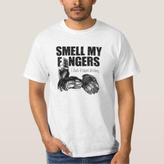Riechen Sie meine Finger (Hockey) T-Shirt