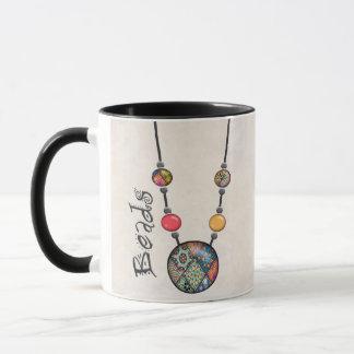 Riesige Perlen-Halskette Mehrfarben    2 Tasse