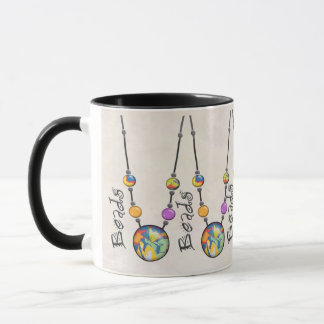 Riesige Perlen-Halskette Mehrfarben    3 Tasse
