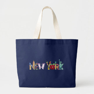 Riesige Taschentasche New York City Jumbo Stoffbeutel