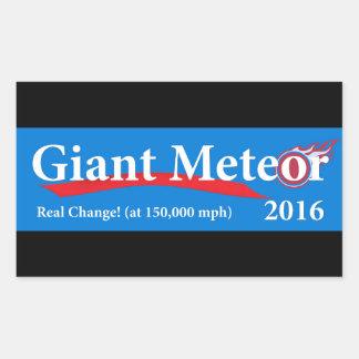 Riesige wirkliche Änderung des Meteor-2016 bei Rechteckiger Aufkleber