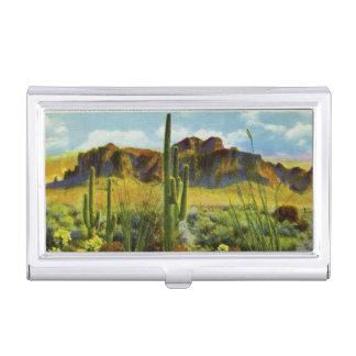 Riesiger Kaktus Retro Grüße Arizonas von Visitenkarten Etui