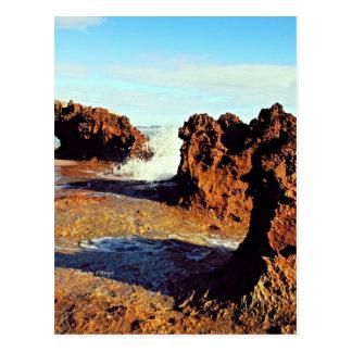 Riff auf der Küste Postkarte