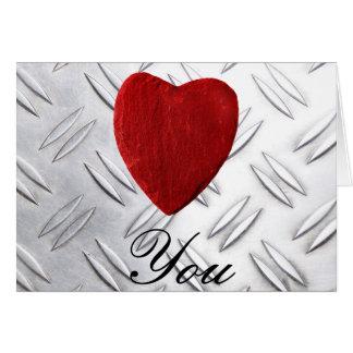 Riffelblech Hintergrund Love you Karte