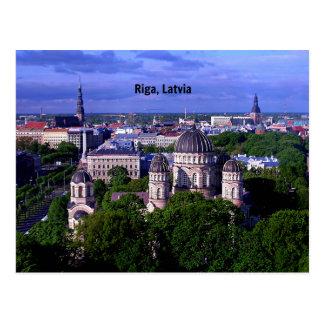 Riga, Lettland-Stadtbild Postkarte