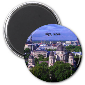 Riga, Lettland-Stadtbild Runder Magnet 5,1 Cm