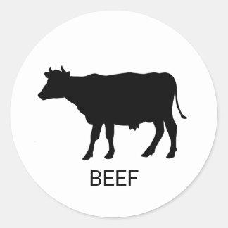 Rindfleisch-Hochzeits-Mahlzeit-Wahl Runder Aufkleber