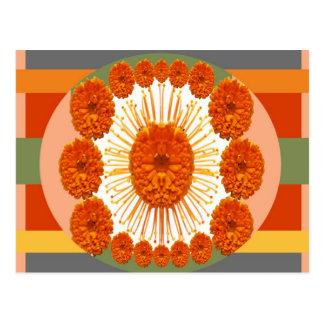 RINGELBLUME Blumen - heiraten Sie Gold Postkarte