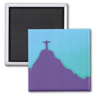 Rio Corcovado Cristo Quadratischer Magnet
